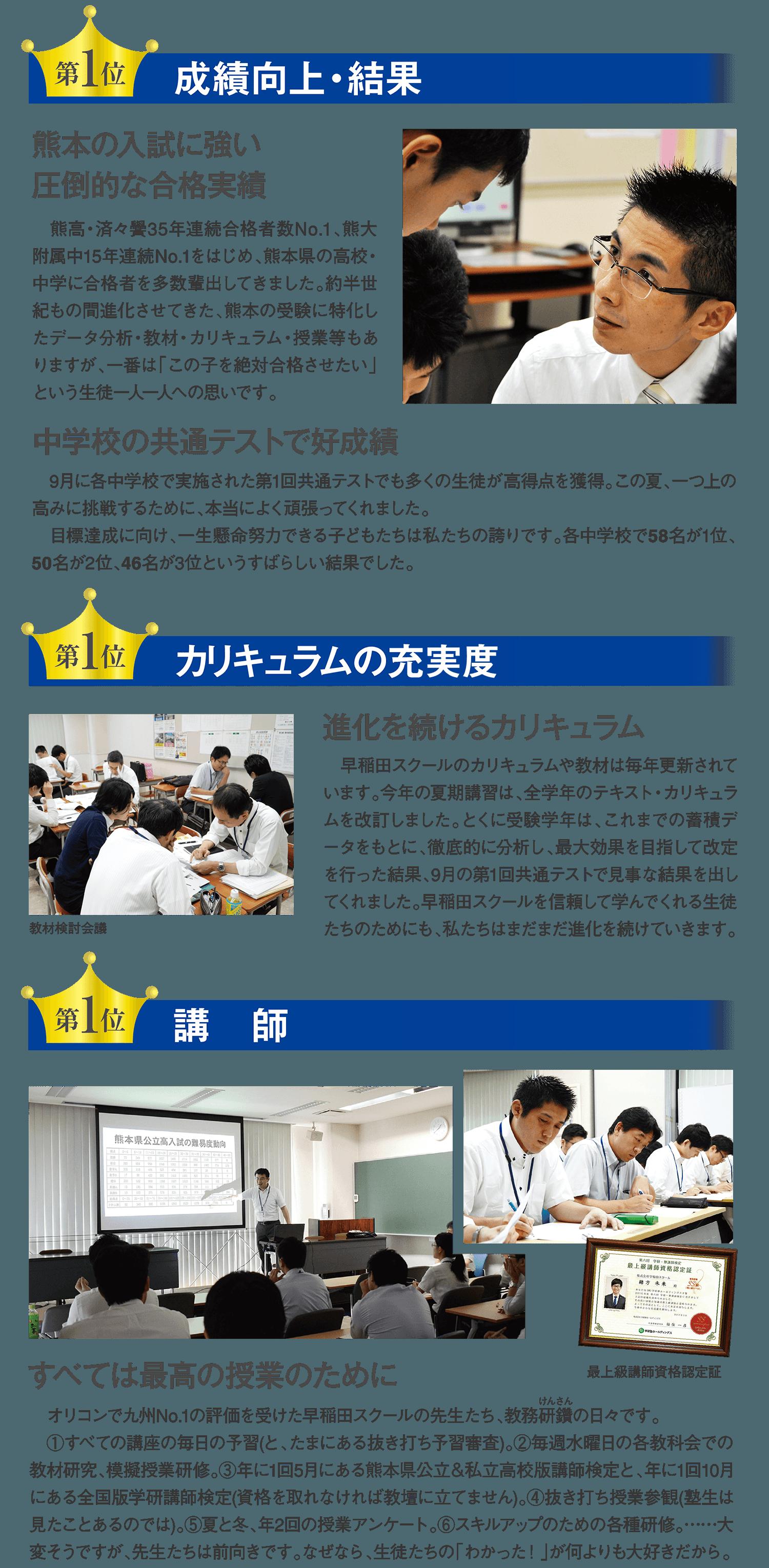 早稲田スクールの特長1