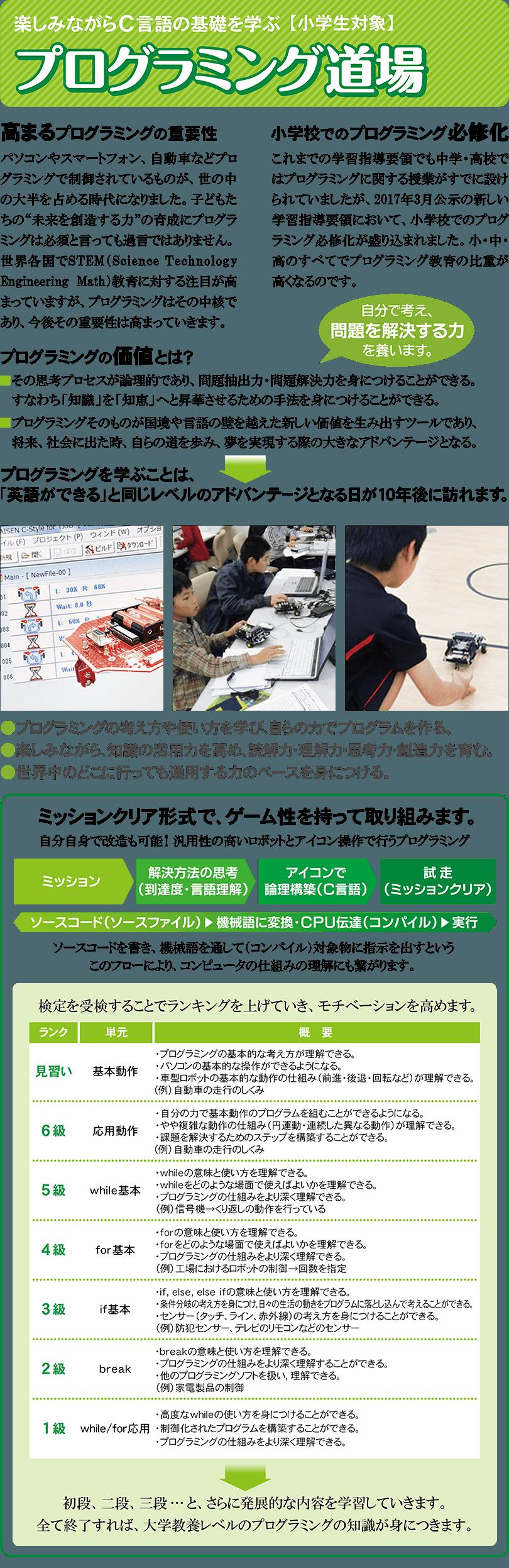 (小1~小6)プログラミング道場